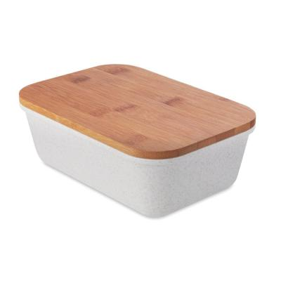 Image of Branded Bamboo Fibre Lunchbox With Bamboo Lid
