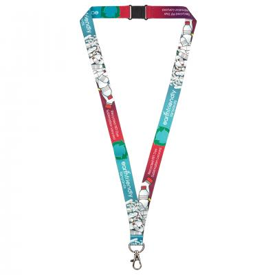 Image of Recycled PET Dye Sub Lanyard 20mm