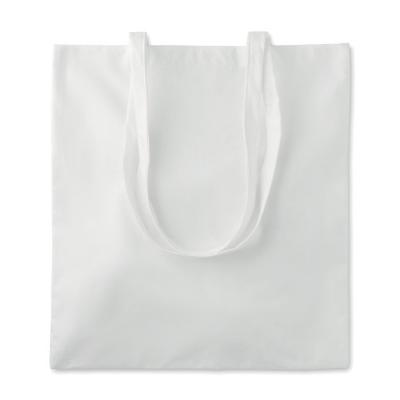 Image of Branded Bamboo Fibre Tote Shopping Bag With Long Handles