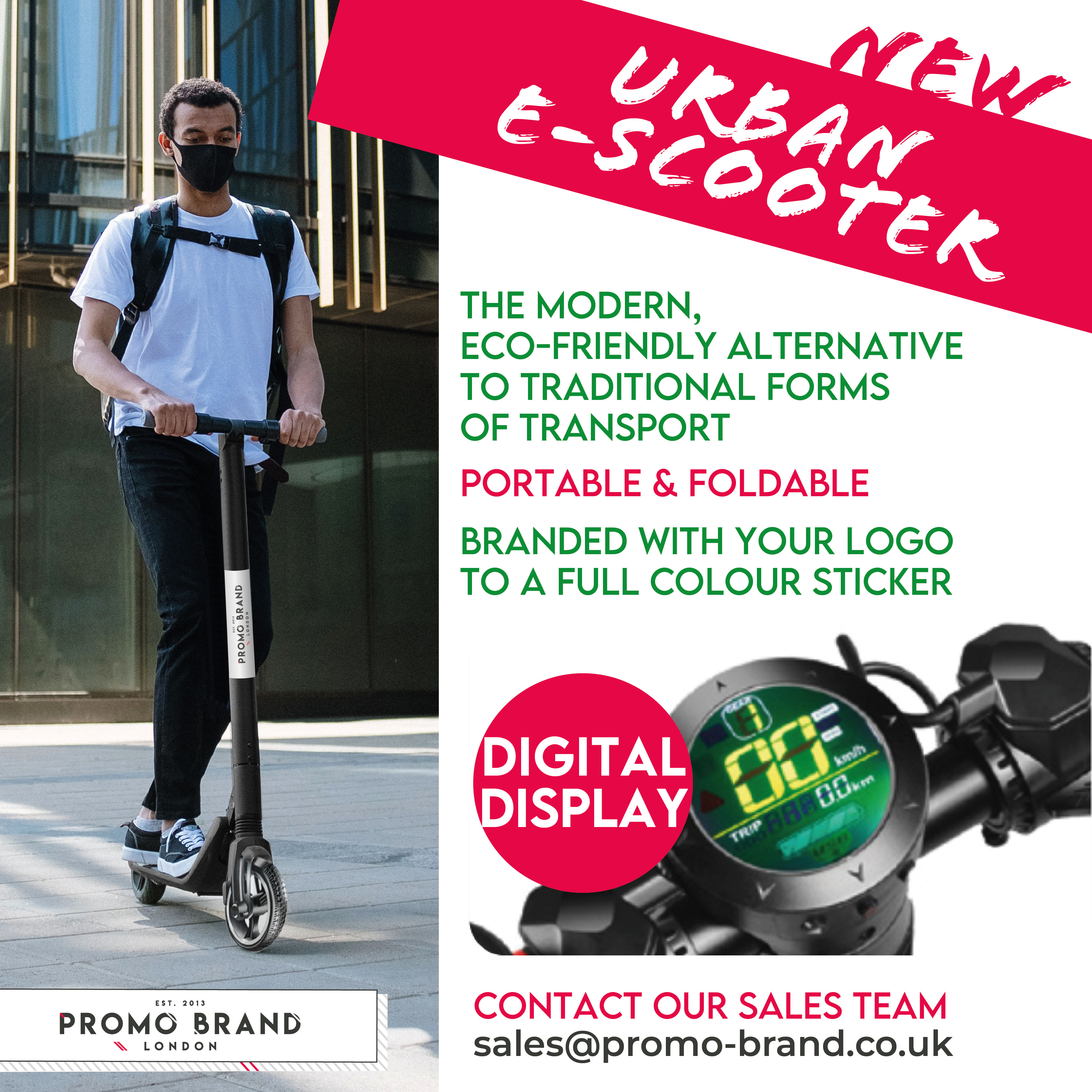 promotional Eco E-Scooter Branded Scooter