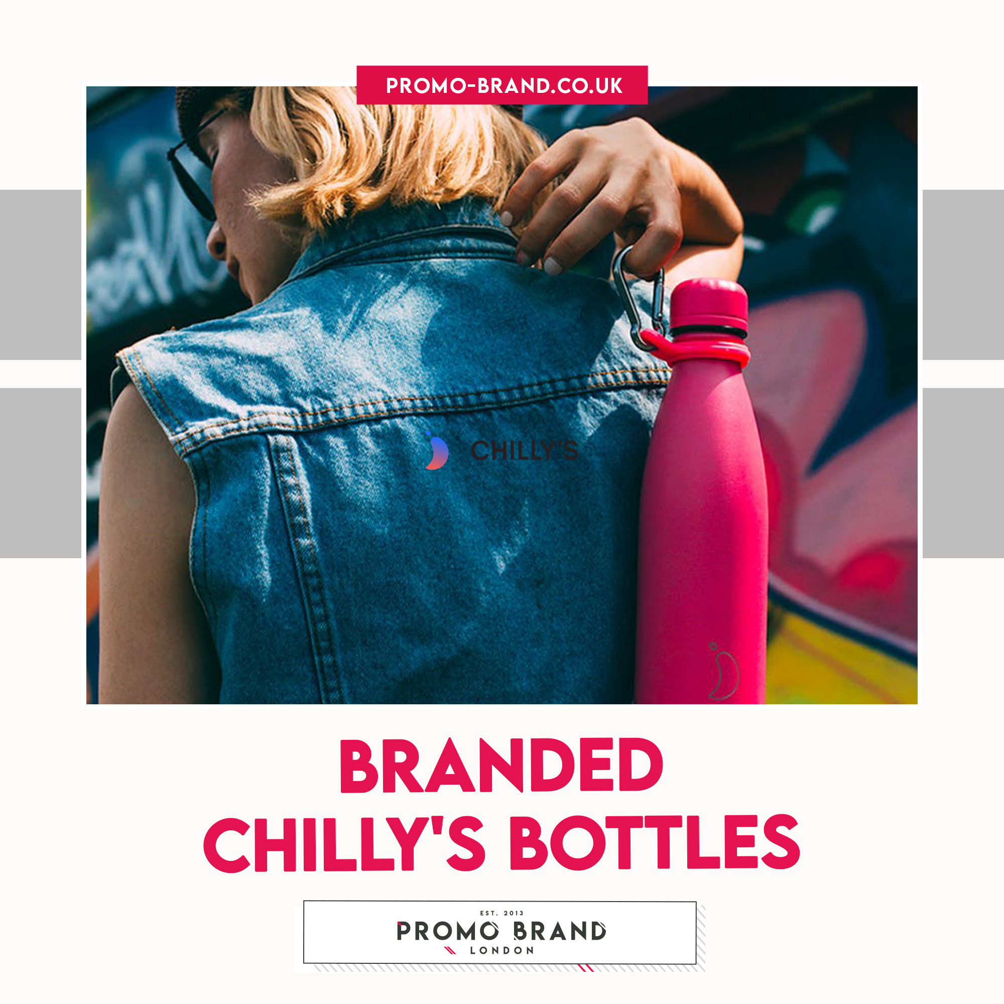 Promotional Branded Chillys bottles Bounce Creative Designs